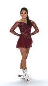 Jerry's 227 Lace Merlot Ice Skating Dress