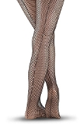 Balera Rhinestone Seam Fishnet Tights