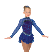 Jerry's 26 Sterling Blue Figure Skating Dress