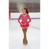 Jerry's 36 Cinnamon Swizzle Figure Skating Dress