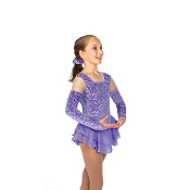 Jerry's 38 Powder Purple Figure Skating Dress