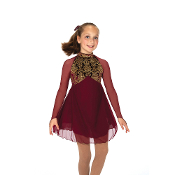 Jerry's 45 Gold Over Garnet Ice Skating Dress