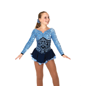 Jerry's 64 Tiers Of Blue Ice Skating Dress