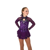 Jerry's 70 Crushed Plum Figure Skating Dress