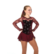 Jerry's 75 A Clearly Claret Figure Skating Dress