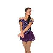 Jerry's 86 Plum Pavlova Figure Skating Dress