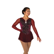 Jerry's 100 Bordeaux Ballet Ice Skating Dress