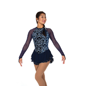 Jerry's 105 Navy Nobility Figure Skating Dress