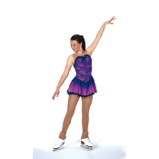 Jerry's 126 Rain On Orchids Figure Skating Dress