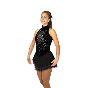 Jerry's 133 Diamond Spray Figure Skating Dress