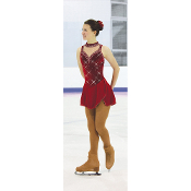 Jerry's 139 Ruby Crystals Figure Skating Dress