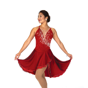 Jerry's 155 Garnet Glam Dance Skating Dress