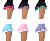 Jerry's 305 Double Ruffle Georgette Figure Skating Skirt