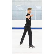 Jerry's 837 Mens Basic Black Figure Skating Top
