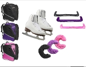 Ladies/Girls Riedell 133 Diamond Transpack Ice Skating Package