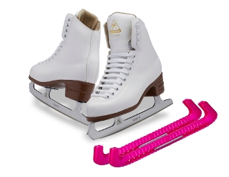 Jackson JS1791 Girls Artiste Figure Skates w/ Free Guards