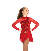 Jerry's 09 Richesse In Red Dress Figure Skating Dress