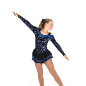 Jerry's 437 Song Of Sapphires Figure Skating Dress