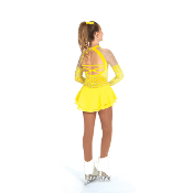 Jerry's 439 Silver-On-Citron Figure Skating Dress
