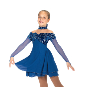 Jerry's 463 Empire Blues Figure Skating Dress