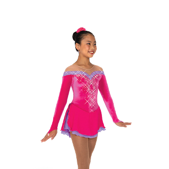 Jerry's 470 Spins & Spirals Crystal Figure Skating Dress