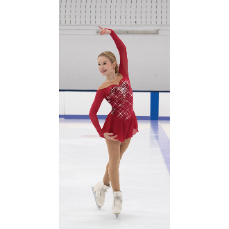 Jerry's 543 Ruby Resonance Figure Skating Dress